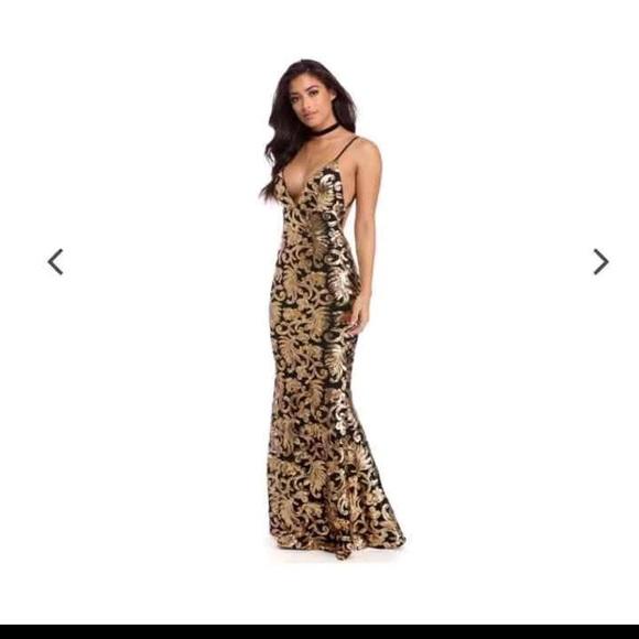 1067092bb52c Windsor Dresses   Marielle Black Carnevale Prom Dress   Poshmark